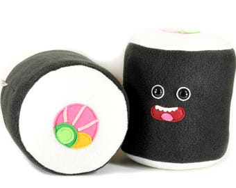 Sushi Roll Plushie, Japanese Sushi Soft Toy, Sushi Cushion Pillow, Sashimi, Kawaii Makizushi, Nori Rolls Home Decor, Sushi Lovers California