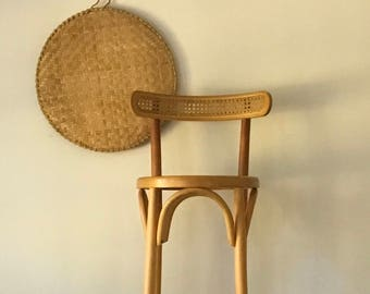 Vintage Natural Bentwood and Cane Thonet Bar, Cafe Chair