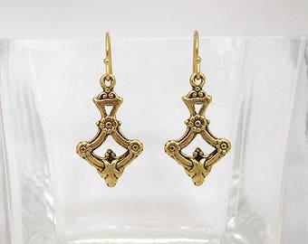 Victorian Flower Garland Dangle Earrings
