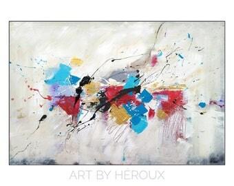 Modern Art, abstract art, red painting, modern painting, Original art on canvas, wall decor, 24x36