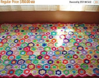 ON SALE - 10% OFF Granny Square Crochet Blanket  Baby Crib Blanket