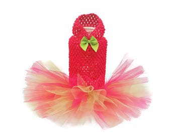 Hot Pink and Lime Dog Tutu-Hot Pink Dog Dress-Hot Pink Dog Tutu-Pink Dog Clothes-Birthday Dog Dress-Dresses for Dogs-Easter Dog Dress
