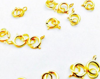 18k yellow hold spring ring. Price per set (close md jump ring 4.5 mm and 6 mm soring ring)
