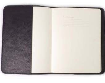 Leather Cover for Moleskine Professional Extra Large Notebook 7.5 x 9.75