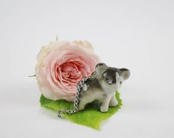 Vintage Porcelain Koala Bear Figurine - Miniature Koala Bear Statue Made in Japan