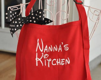 Monogrammed Aprons, Personalized Apron, Gift for Grandma, Kitchen Aprons, Custom Aprons, Monogrammed Grilling Apron, Dad Gift, Nanna Apron