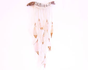 Driftwood Feather Wall Hanging