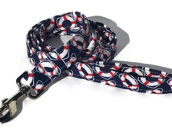 Dog Leash in Navy Buoys for Small to Large Dogs