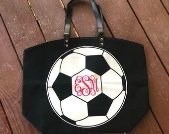 Monogam Football Mom Tote Bag Soccer Mom Baseball Mom