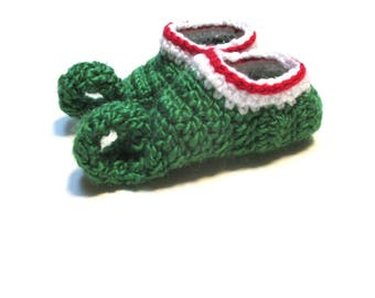 NEW !!  Baby elf booties.  Novelty baby booties for babys first Christmas.  Baby christmas booties made to order elf boots.  Baby xmas boots