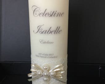 Personalized Baptismal/Christening Candle
