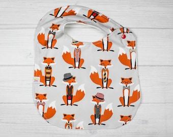 Baby Fox -Baby Fox Bib- Baby Bib - Gift for Baby Boy- Baby Shower Gift -Designer Baby Bib- Toddler Bib - Drool Bib -FOX BABY BIB