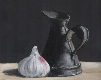 Garlic with Oil Can