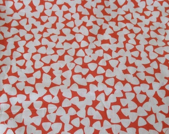 FREE SHIPPING, Quilting Fabric, Michael Miller,  Tiny Guitar Picks, Tangerine,  1/2 Yard, Cotton Fabric