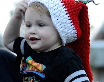 SUMMER SALE Instant Download PDF Crochet Pattern - No. 51 Santa Claus Hat - 6 Sizes