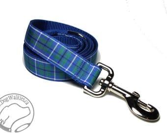 Ancient Douglas Tartan Leash // Matching Tartan Dog Leash in all widths // custom lengths // Plaid Leashes // Tartan Lead // Handmade