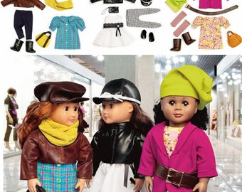 McCalls 6804-- Crafts Pattern 18 inch Doll clothes
