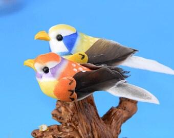 2 pcs bird Terrarium Garden Miniature doll house miniature cake topper