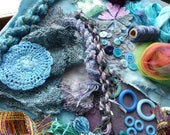 Hope jacare - Creativity pack  - hand dyed cotton threads, fabric and other goodies - CP28