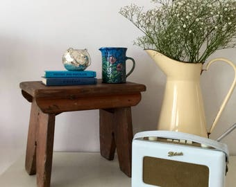 Vintage Milking Stool - Small Rustic Bench - Traditional Wooden Stool - Rustic Home Decor -