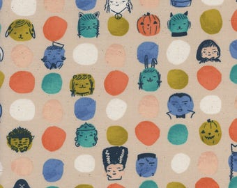 PRESALE - Lil' Monsters - Dress Up in Peach - Cotton + Steel - 5126-02 - 1/2 Yard