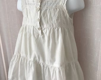 Lovely white cotton frock from Beautees, 18-24 mos.