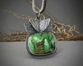 Australian Variscite II Necklace, gemstone Necklace, Sterling Silver Necklace, gift for her, gift idea, perfect gift, unique gift idea, ooak