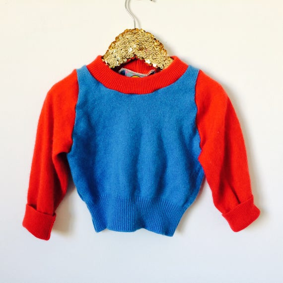 SOFTIE 1-2 Years Kids Childrens Cashmere Jumper Handmade Top Sweater Pullover Pulli Upcycled Thermal Cashmere Unisex