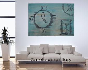 "28""  Original Abstract Painting  Acrylic Painting Modern Art  Handmade by Carola, 28""x20"""