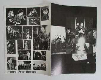 Paul McCartney 1972 Wings Over Europe Tour Program Original