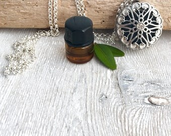 Lava Locket Diffuser Necklace • Oil Necklace •  Necklace • Essential Oil Necklace • Aromatherapy Jewelry • Lava Jewelry