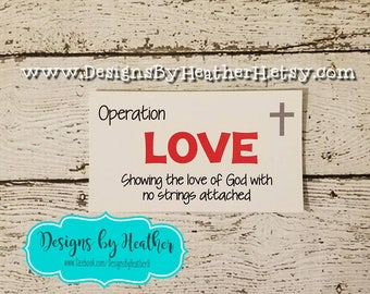 Community Outreach, Love Cards, Love Campaign, Operation Love Cards, Operation Love Campaign, Love