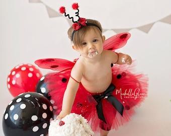 Baby Girl Halloween Costume - Ladybug Costume - Girl Ladybug Tutu - Ladybug Wings, Leg Warmers, Tutu and Headband - Ladybug Birthday