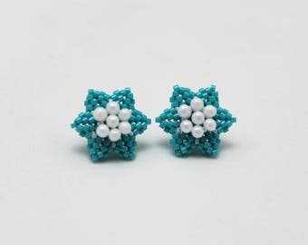 Star Earrings Turquoise