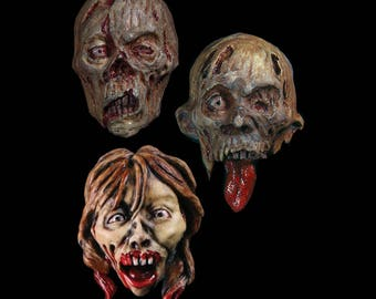 Set of Three Zombie Face Magnets