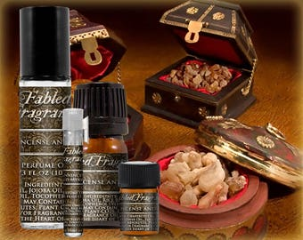 FRANKINCENSE AND MYRRH - Perfume Oil with Frankincense, Myrrh - All Natural, Vegan Solid Perfume, Sacred Incense, Ships Out in 5-7 Days