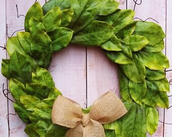 Magnolia Wreath-Fall Wreath-Year Round Wreath-Fixer Upper Wreath-Magnolia Door Wreath-Farmhouse Wreath-SOUTHERN MAGNOLIA Door Wreath-Wreaths