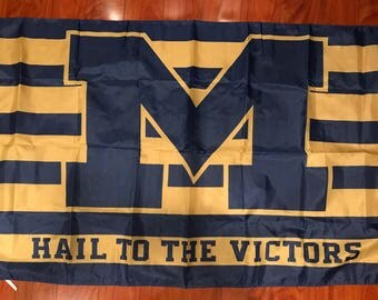 University of Michigan Wolverines 3 X 5 Feet Flag Banner NCAA College Hail to the Victors