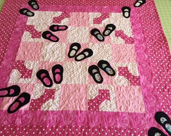 "Mary Jane Baby Quilt 38"" square"