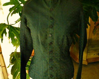 Victorian Era Handmade Tailored Women's Jacket  Day Dress Top