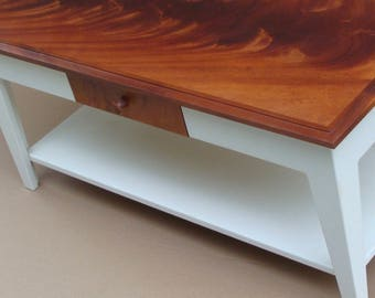 Painted Coffee Table With Mahogany Top