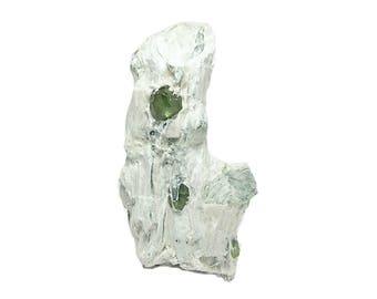 Garnet Green Demantoid Gem Crystals in White Matrix Quebec Mineral Specimen, Collector's Choice Geo Gemstone