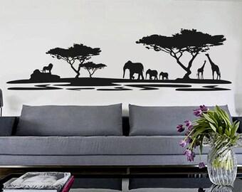 African Safari - uBer Decals Wall Decal Vinyl Decor Art Sticker Removable Mural Modern A345