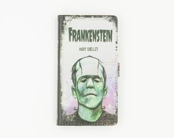 Book phone /iPhone flip Wallet case- Frankenstein for  iPhone  X 8 7 6, 6 7 & 8 plus, 5 5s 5c Samsung Galaxy S7 S6, S5 , Note 4, 5, 7, 8 LG,