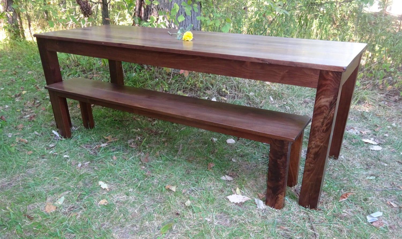 Walnut Long Thin Parson 39 S Table Bench