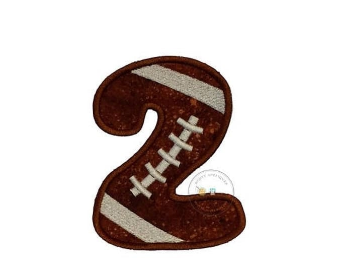 Bubble football numbers iron on appliques