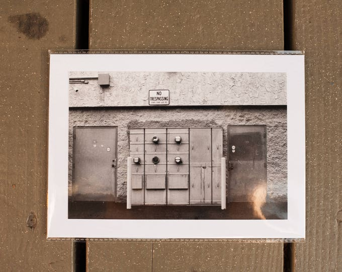 The Wall - Black and White Photograph Print