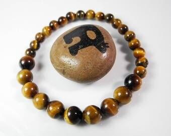 Golden Tiger Eye Bracelet,  Stretchy Bracelet,  Yoga Bracelet, Eye Beaded Bracelet, Unisex Stretch Bracelet, Stone of Protection