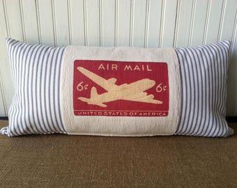 Airplane Pillow - Airplane Boys Room - Airplane Nursery -  Airplane Decor - Nursery Decor  - Boys Room Decor - Baby Boy Nursery Decor