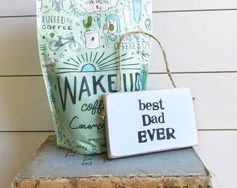 Best Dad Ever Sign / Father's Day Sign / Dad Gift / Wood Sign / Rustic Sign / Dad Sign / New Dad Gift